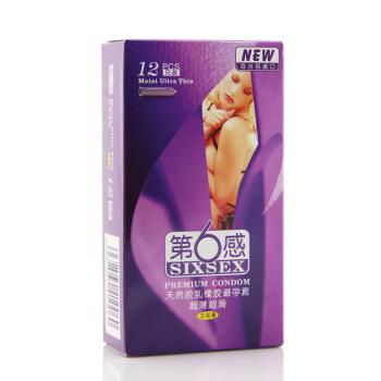 第六感天然膠乳橡膠避孕套(超簿超滑)12只