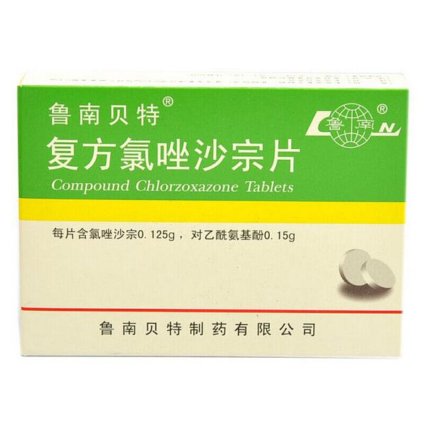 鲁南 复方氯唑沙宗片 24s说明书,价格,多少钱,怎么样,功效作用