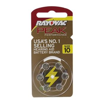 雷特威助听器配件电池6颗A10