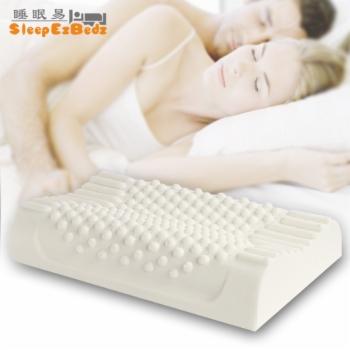 睡眠易 泰国乳胶枕头 天然乳胶枕头 颈椎枕 保健枕 护颈枕头