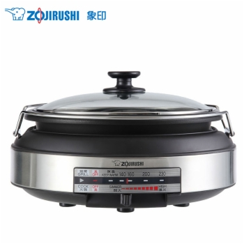 象印烧烤两用电火锅 2.3L EP-LAH15C-XJ 棕
