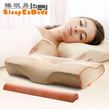 睡眠易蝶形双棒理疗颈椎枕记忆枕 舒适保健版60*33*11/6Cm