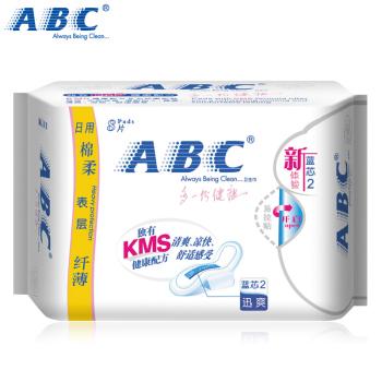 ABC日用棉柔纖薄藍芯迅爽衛生巾8片