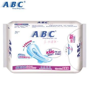ABC甜睡夜用超極薄棉柔排濕表層衛生巾3片