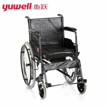 鱼跃手动轮椅车(钢管充气座便型) H058B