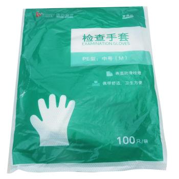 稳健普通级检查手套PE型:中号(M)