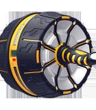 斯诺德 健腹轮巨轮男腹肌训练器收腹器家用静音健身器材 内置感应器计数屏显 S550