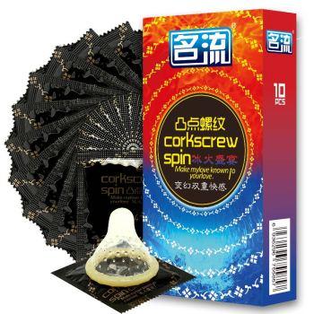 名流凸點螺紋冰火盛宴避孕套10只裝