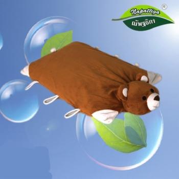 娜帕蒂卡防螨透气儿童卡通动物枕可折叠乳胶枕