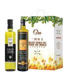 三國演義黃金搭配雙支B禮盒  優質橄欖油  優質亞麻籽油