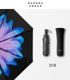 淺妃琉璃小黑傘雙層女太陽傘防曬晴雨傘折疊