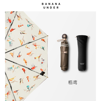 BANANA UNDER蕉下 CRUISE慢游系列小黑伞双层女太阳伞防晒晴雨伞折叠