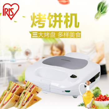 爱丽思IRIS 双面加热烤饼机家用小型易清洗华夫饼三明治甜甜圈机 ICMS-703P