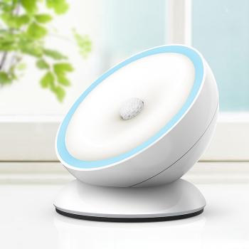 实智360�智能感应夜灯  人体感应  循环充电  任意粘贴