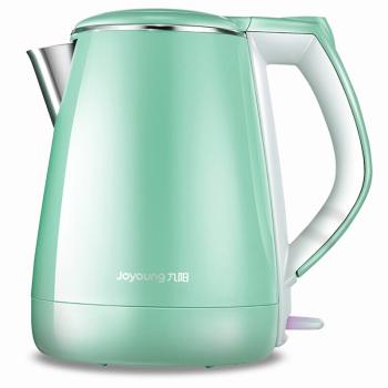 九陽(Joyoung)電熱水壺不銹鋼燒水防燙開水煲水壺1.5LK15-F29 綠色