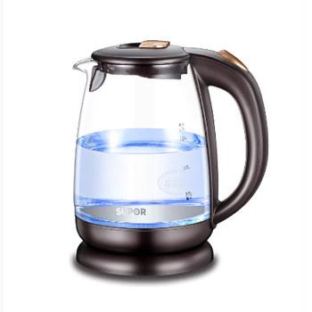 苏泊尔(SUPOR)玻璃电水壶电热水壶1.7L大容量自动断电养生壶SWF17S24A