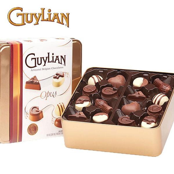 吉利莲经典巧克力礼盒360g铁盒