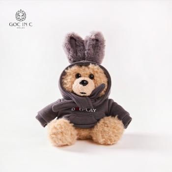 GOC IN C兔子熊充电宝潮流卡通毛绒移动电源(灰色)