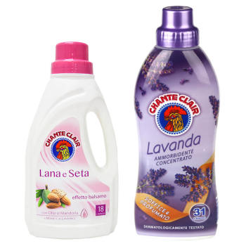 意大利进口公鸡头管家 洗衣液(真丝)+公鸡头管家 浓缩衣物柔顺剂