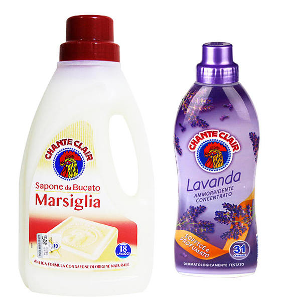 意大利进口公鸡头管家 洗衣液1L+公鸡头管家 浓缩衣物柔顺剂(薰衣草味)
