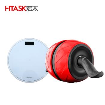 液晶背光电子秤带温度显示+静音回弹健腹轮 HT-01AB-1ES