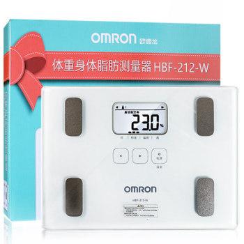 欧姆龙脂肪测量仪HBF-212脂肪秤电子秤智能健康体脂仪
