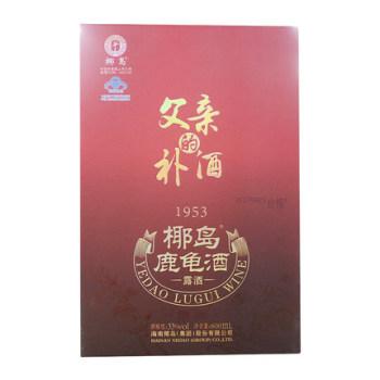 椰岛鹿龟酒 600ml/瓶 保健酒礼盒康福套装 父亲的补酒礼盒