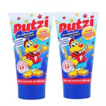 德国Putzi儿童含钙牙膏蓝色原味 50ml