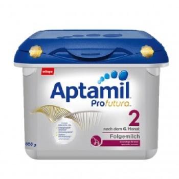 保税区直发 德国Aptamil爱他美新版白金版2段婴儿牛奶粉800g(6-10个月宝宝)宝盒装