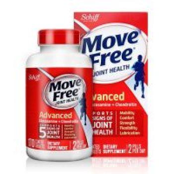 保税区直发 美国Schiff Move Free氨基葡萄糖红瓶维骨力 170粒