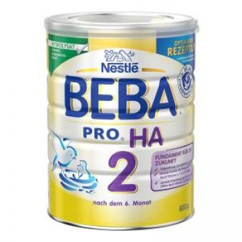 保税区直发 德国Nestl�雀巢BEBA贝巴适度水解奶粉2段(6-10个月)800g