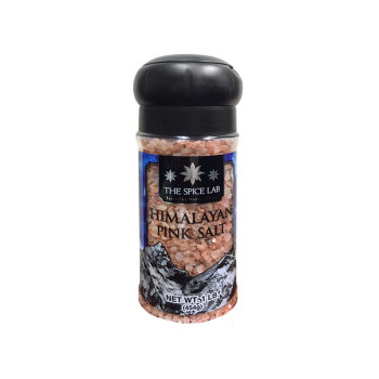 The Spice Lab 喜马拉雅大粒粉盐/玫瑰盐(塑料瓶装带陶瓷研磨器)454g/罐