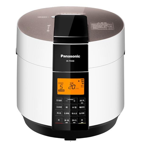 松下 SR-PS508 人工智能电压力锅 家用压力煲无水料理 5L电压力锅