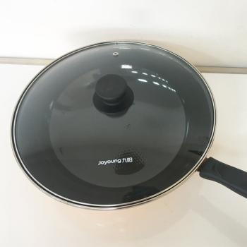 九阳(Joyoung) 炒锅家用搪瓷炒锅电磁炉明火两用锅具橙色