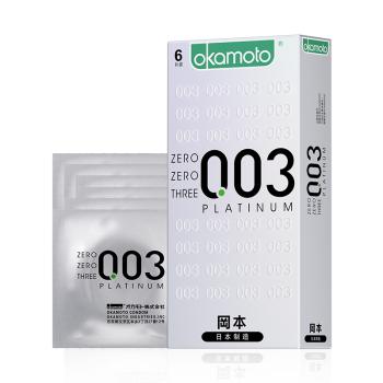 冈本ZERO避孕套0.03白金超薄型6片装