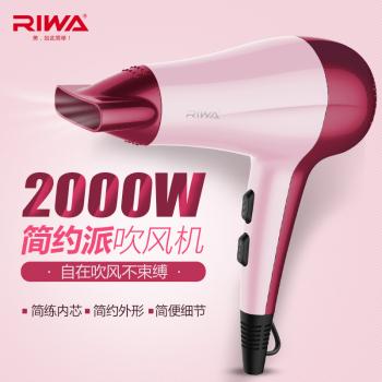 雷瓦RIWA 電吹風機家用大功率冷熱風恒溫RC-7133