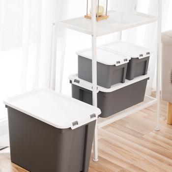 Ibox 四件套加硬储物收纳箱  灰色 83200001