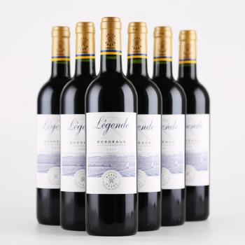 法国进口波尔多AOC级拉菲传奇红葡萄酒6瓶/箱