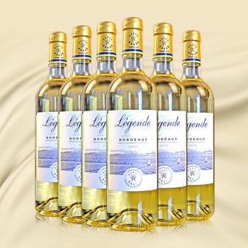 法国进口波尔多拉菲传奇白葡萄酒6瓶/箱
