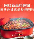 九陽多功能料理鍋火鍋燒烤肉一體家用電煮鍋HG40-C6