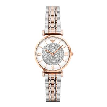 阿玛尼满天星手表 钢制表带 圆形石英女士手表