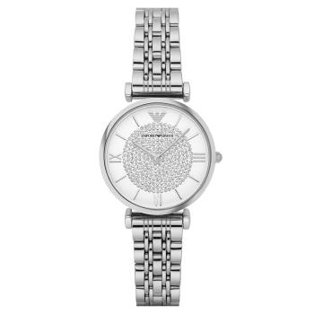阿玛尼满天星手表女 张钧甯同款时尚休闲钢带腕表