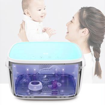 59秒智能LED紫外线消毒柜带烘干箱 插电版 T5 蓝色