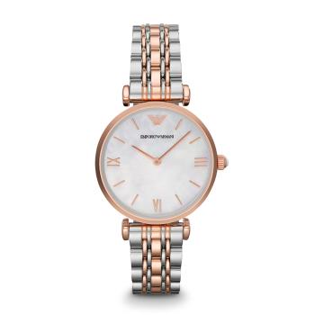 阿玛尼手表钢制表带时尚休闲简约石英女士腕表