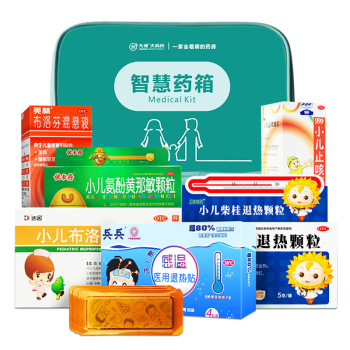 【智慧藥箱】兒童感冒發熱套餐 降溫退燒 祛痰鎮咳 流涕