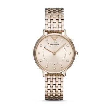 阿玛尼(Emporio Armani)时尚休闲石英表钢带镶钻手表女AR11062