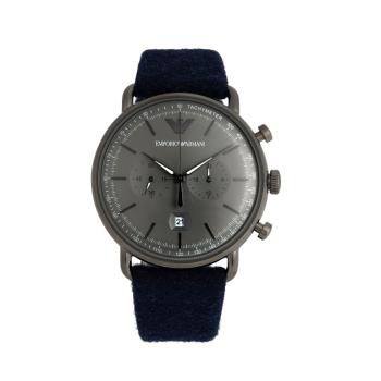 阿玛尼(Emporio Armani) 手表 AVIATOR飞行员系列时尚创意毛毡表带男表 AR11144