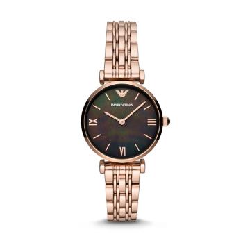 阿玛尼(Emporio Armani) 手表 女时尚镶钻女士手表钢带非机械女表 AR11145