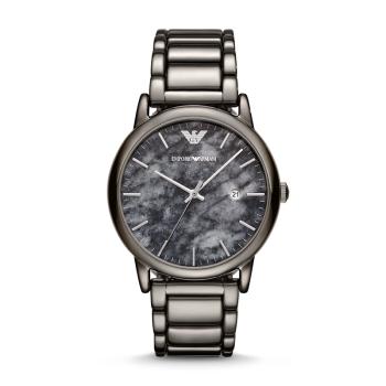 阿玛尼(Emporio Armani)手表 男士天然大理石钢带腕表 独特大理石纹路AR11155