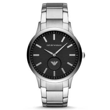 阿玛尼(EmporioArmani)手表 皮质表带商务时尚石英男士腕表飞行员系列 AR11105